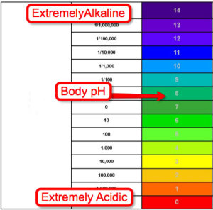 acid alkaline ph balance scale
