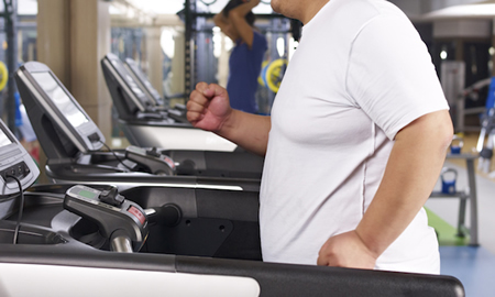 Treadmill Workouts for Overweight Beginners man